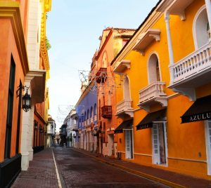 Cartagena Colombia Colonial Street