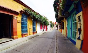 Cartagena Colombia Colorful Houses