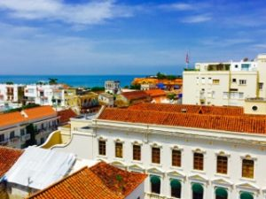 Cartagena Colombia Sea and Houses