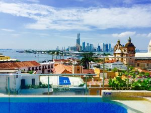 Cartagena Colombia Skyline BocaGrande